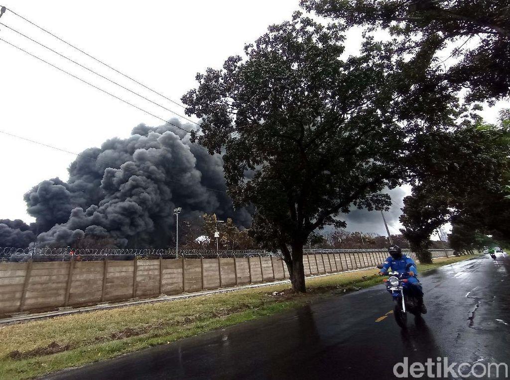 2 Tangki Terbakar di Kilang Pertamina Indramayu Berhasil Dipadamkan