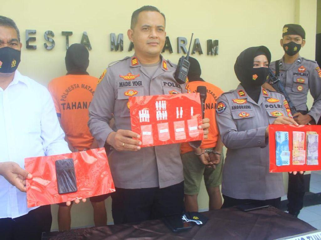Modus Baru Transaksi Sabu di Bawah Pohon, 3 Pengedar di Mataram Ditangkap