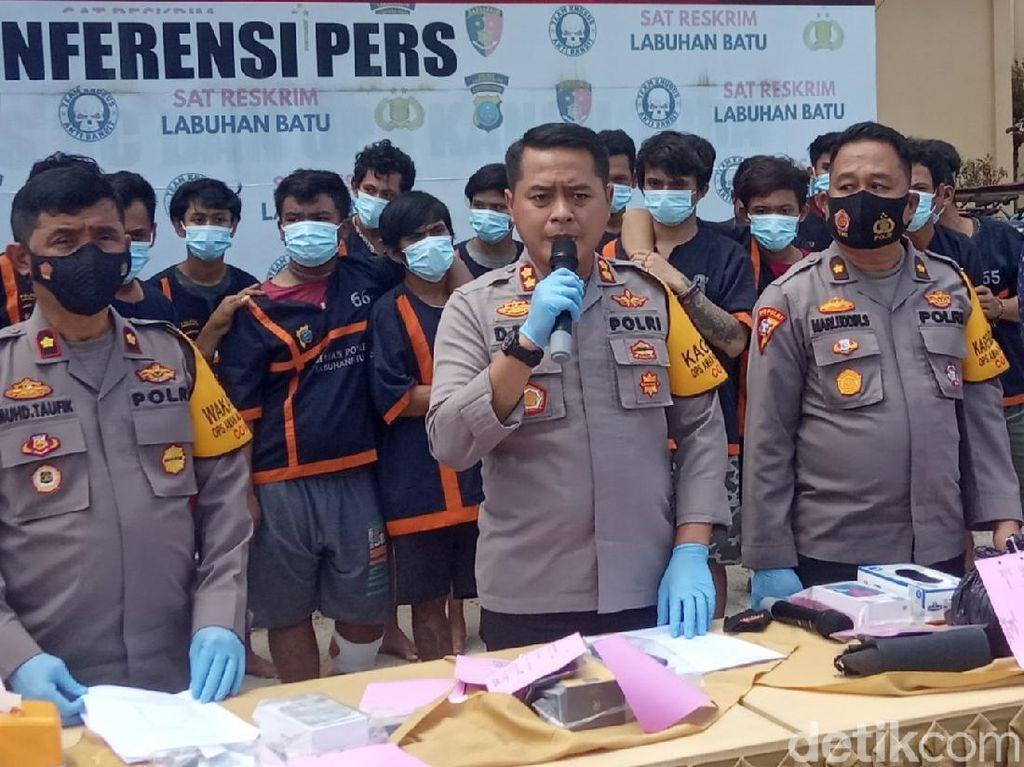 130 Pelaku Kejahatan di Labuhanbatu Diciduk, Kelapa Sawit-Besi Rel Disita