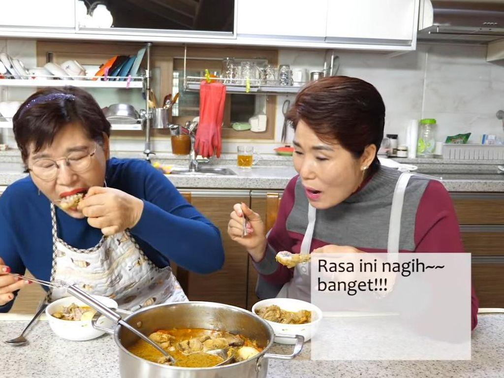 Heboh! Begini Reaksi Emak-emak Korea Saat Cicip Lontong Sayur Pertama Kali