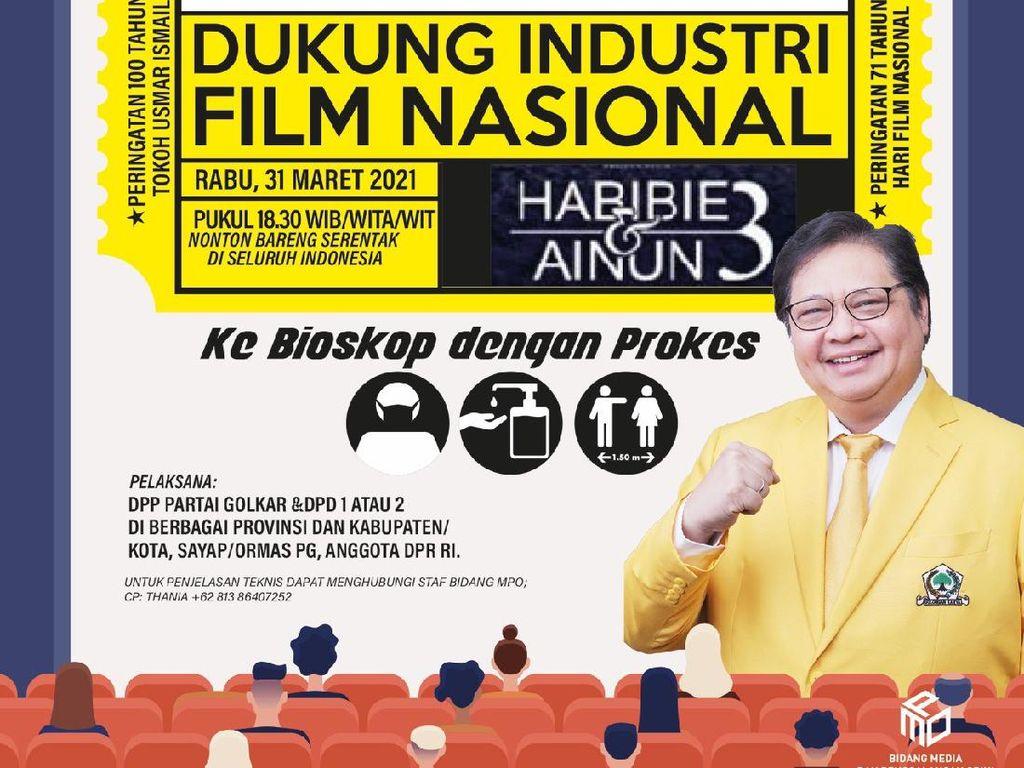 Dukung Industri Film Nasional, Golkar Gelar Nobar di 24 Daerah