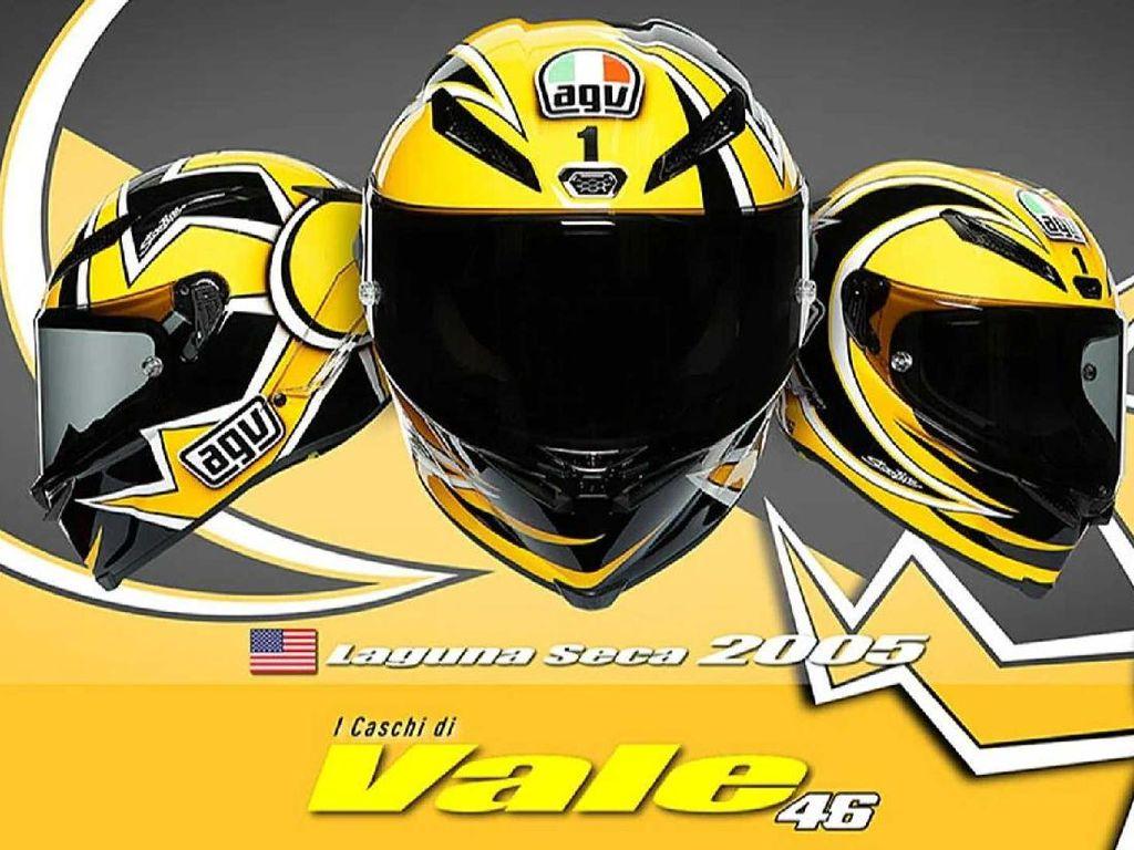 AGV Rilis Replika Helm Valentino Rossi, Dijual Seharga Rp 27 Juta