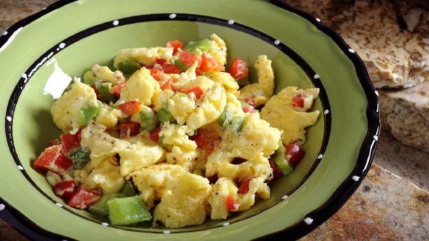 ilustrasi telur orak arik sayuran