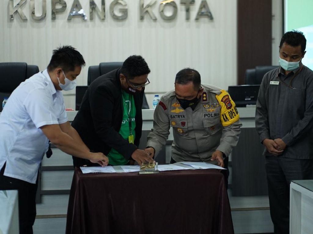 Polresta Kupang Gandeng Ojol untuk Layanan Antar Dokumen SIM dan SKCK