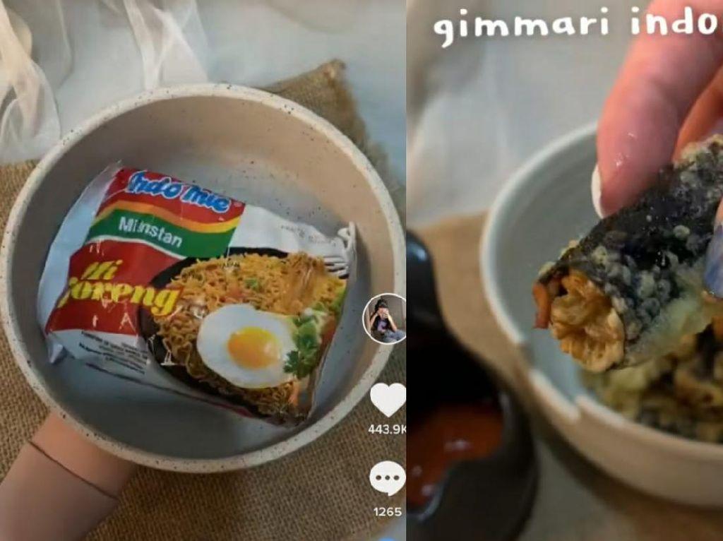 Unik! Kreasi Indomie Gimmari, Paduan Rasa Indonesia dan Korea
