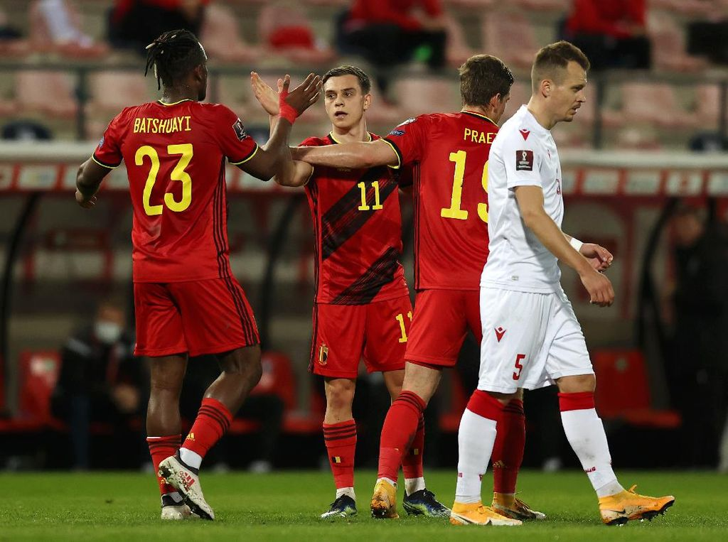 Kualifikasi Piala Dunia 2022: Belgia Hajar Belarusia 8-0