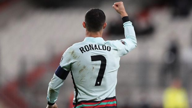 Soccer Football - World Cup Qualifiers Europe - Group A - Luxembourg v Portugal - Stade Josy Barthel, Luxembourg - March 30, 2021 Portugal's Cristiano Ronaldo celebrates scoring their second goal REUTERS/Pascal Rossignol