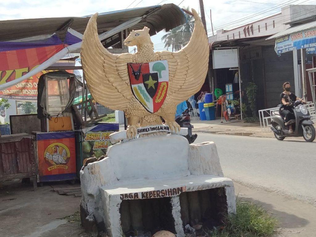 Viral Burung Garuda Dicat Putih, Pemkab Asahan Beri Penjelasan