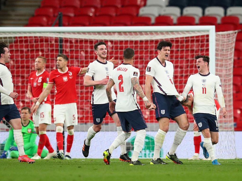 Kualifikasi Piala Dunia 2022: Maguire Pahlawan, Inggris Atasi Polandia 2-1