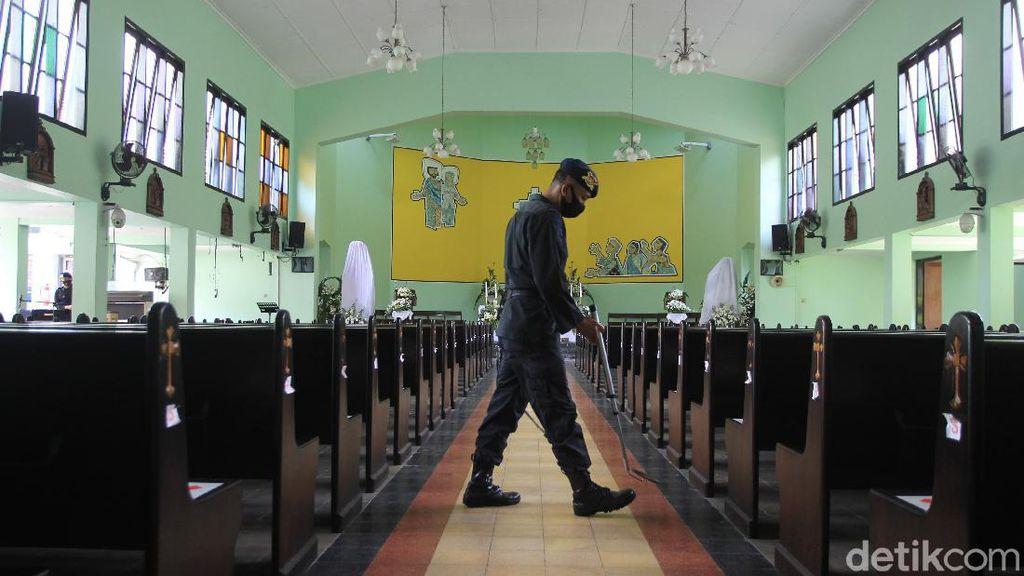 Jelang Paskah, Gegana Polda DIY Sterilisasi Gereja di Sleman