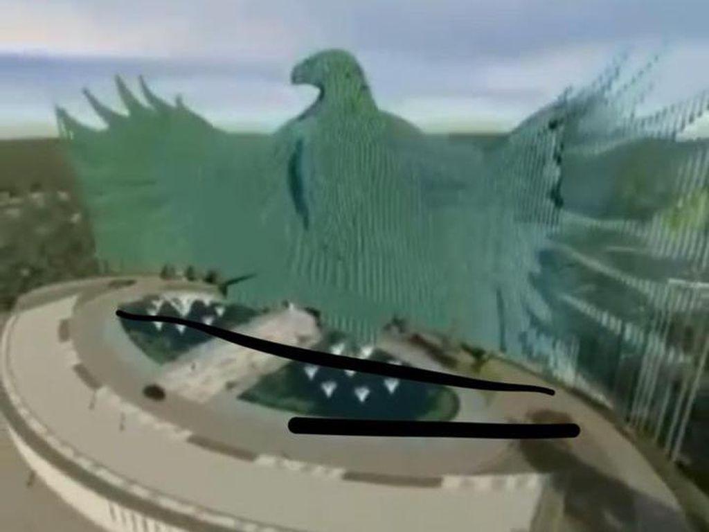 Lengkap! Ini Detail Desain Garuda Istana Negara Beserta Isinya