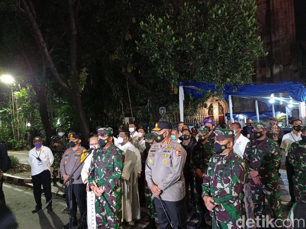 Tinjau Gereja Katedral Jakarta, Panglima TNI Jamin Rasa Aman Beribadah