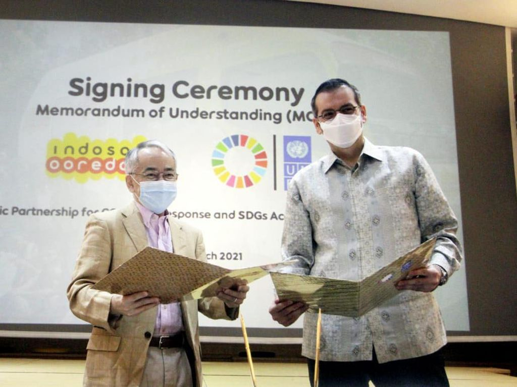 Percepatan SDGs, UNDP Gandeng Indosat Ooredoo