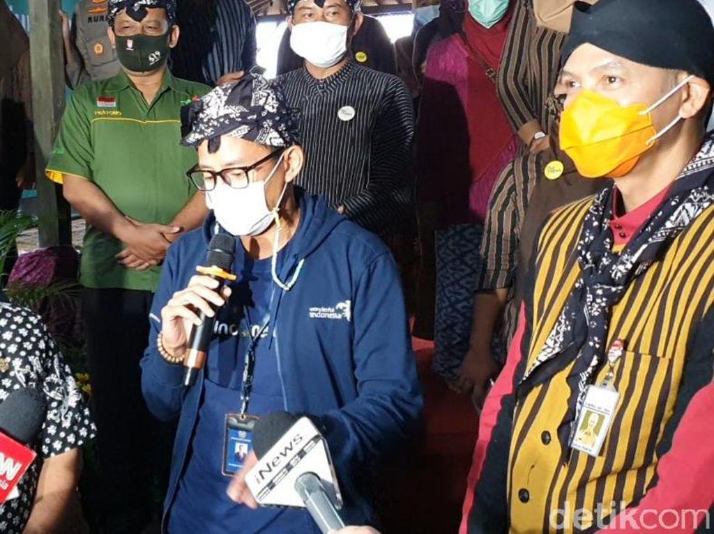 Datangi Desa Wisata Lerep Semarang, Sandiaga: Kita Tingkatkan SDM-nya