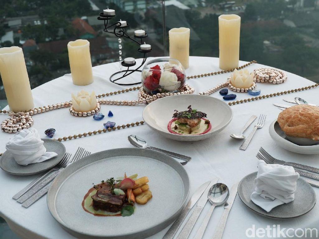 Foto: Hidangan ala Prancis dari Restoran Tertinggi di Bandung