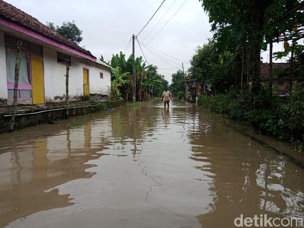 Banjir yang Landa 8 Desa di Jombang Mulai Surut