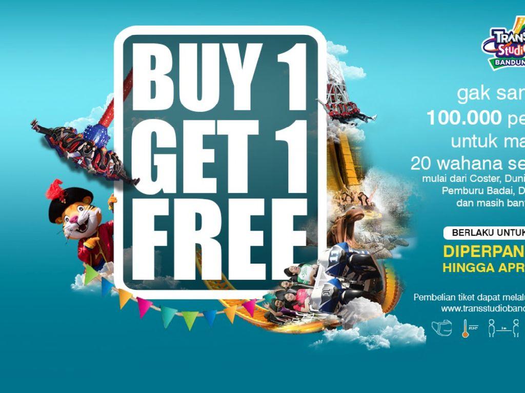 Long Weekend Seru di Trans Studio Bandung, Ada Promo Buy 1 Get 1!