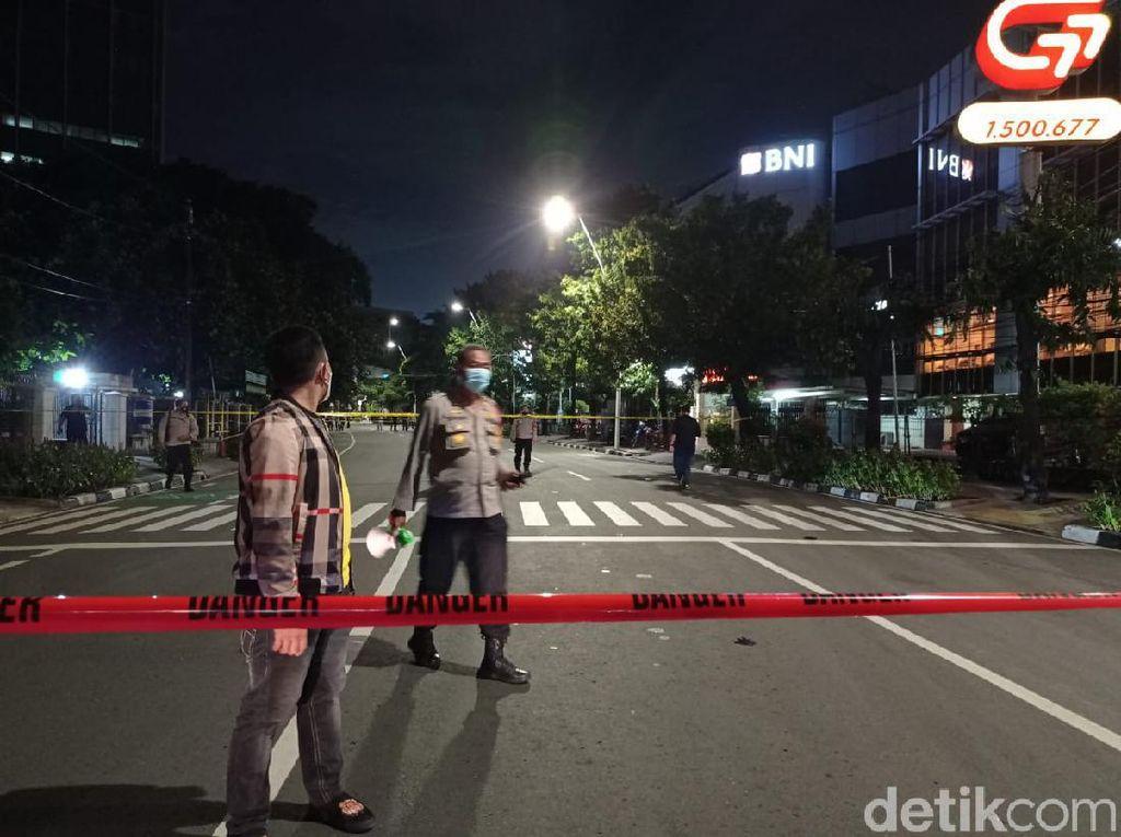Ada Benda Mencurigakan, Polisi Pasang Garis Danger di Depan GPIB Effatha