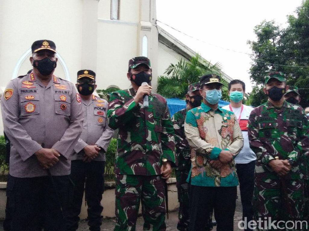 Ke Katedral Makassar, Panglima TNI Pastikan Misa Jumat Agung Berjalan Baik