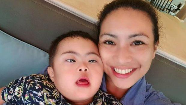 Sara Djojohadikusumo dan keluarga