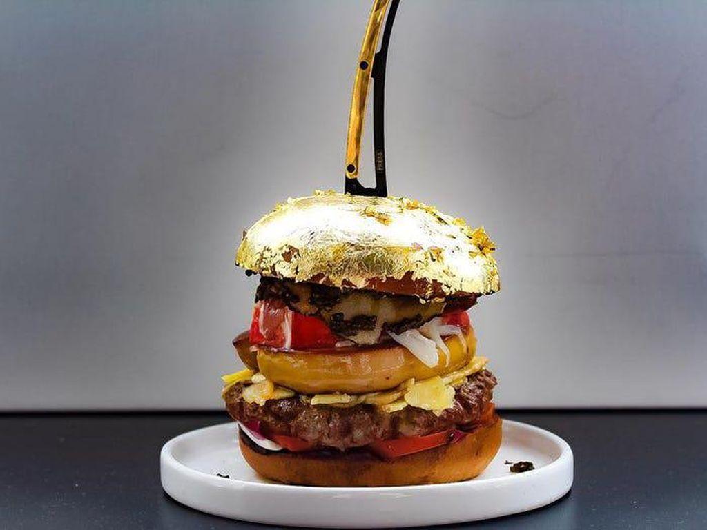 Wow! 5 Burger Premium Berlapis Emas 24 Karat Ini Harganya Rp 33 Juta