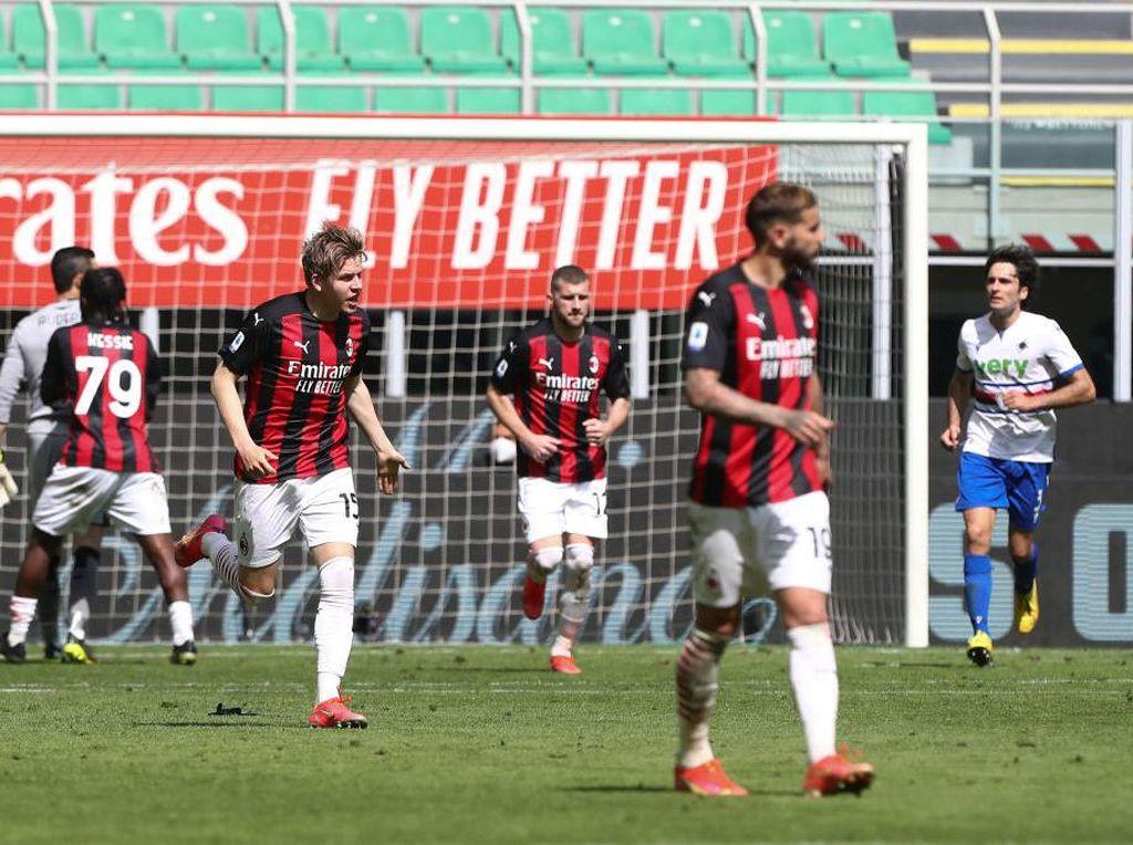 Milan Vs Sampdoria: Rossoneri Ditahan 10 Pemain Il Samp 1-1