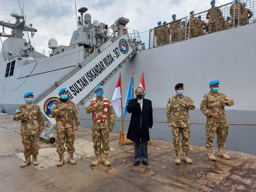 KRI Sultan Iskandar Muda 367 Tiba di Lebanon untuk Misi Perdamaian UNIFIL