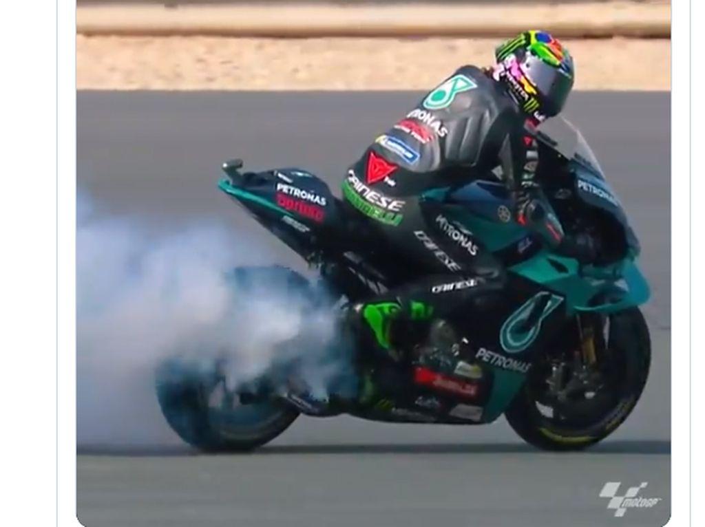 Motor Yamaha Ngebul di FP1 MotoGP Doha, Morbidelli: Bukan Masalah Besar