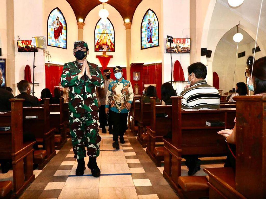Kunjungi Makassar, Panglima TNI Cek Langsung Pengamanan Paskah
