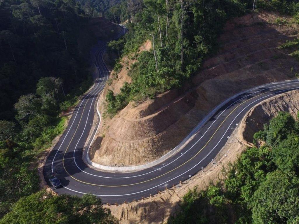 Jalan Perbatasan Terus Dibangun, Wow Hasilnya Bikin Takjub