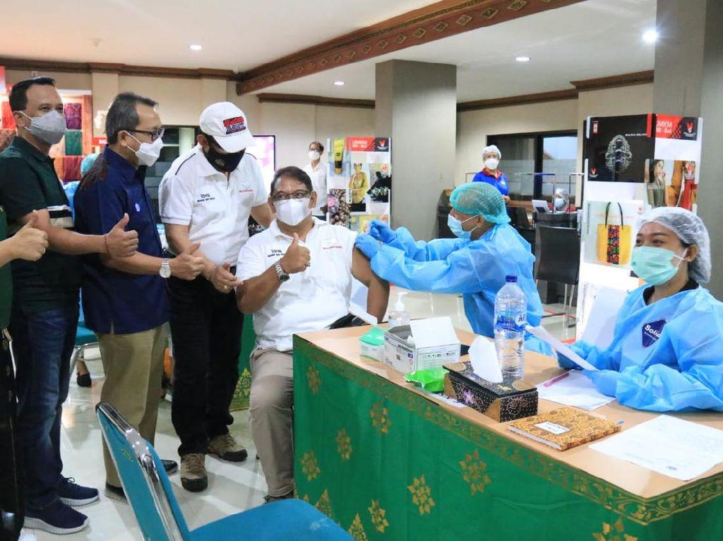 Vaksinasi 3 Kawasan Hijau COVID-19 di Bali Ditarget Selesai Pekan Depan