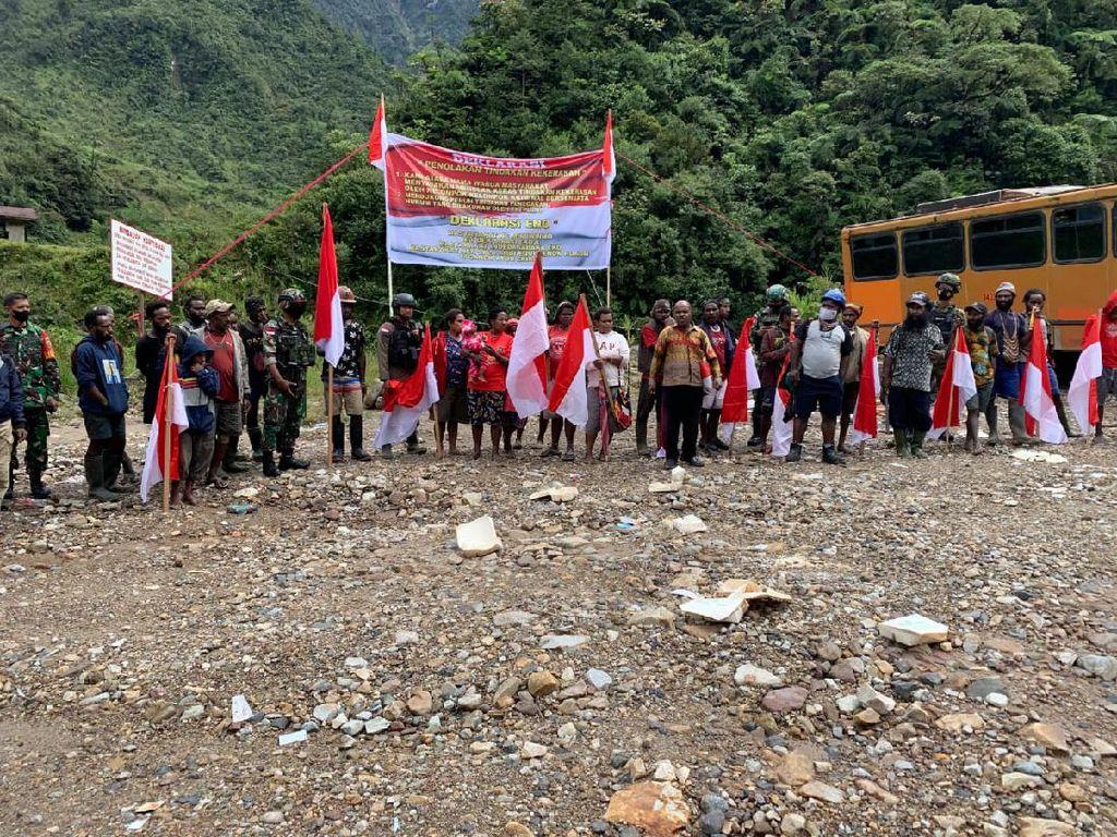 Warga Tembagapura Papua Deklarasi Tolak KKB, Minta TNI-Polri Tetap Jaga