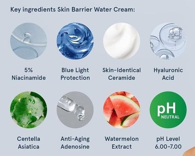 Key Ingredients Skin Barrier Water Cream