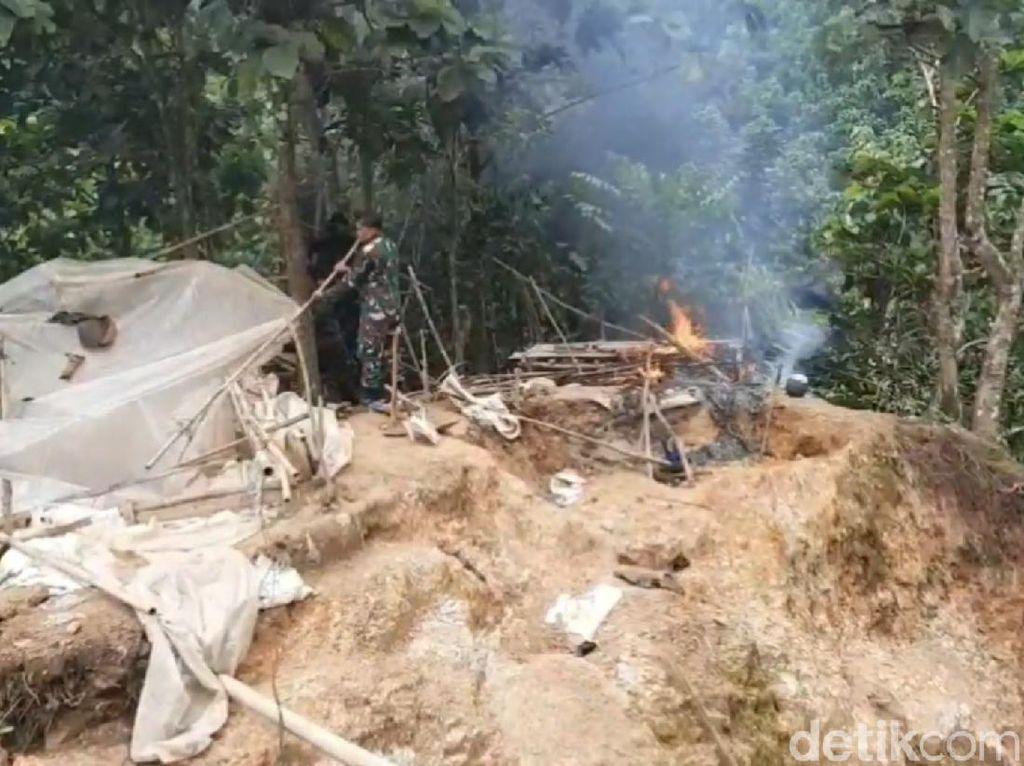 Tambang Emas Ilegal di Tasikmalaya Ditertibkan Petugas Gabungan