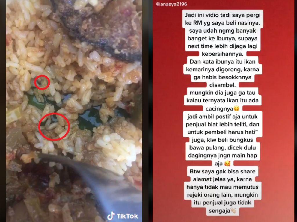 Jijik! Wanita Ini Temukan Belatung dalam Bungkusan Nasi Padang