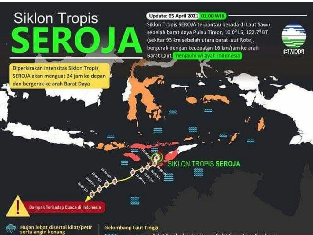 Siklon Tropis Seroja Masih Ada, Warga Diimbau Waspada