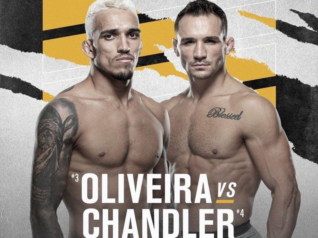 Charles Oliveira vs Michael Chandler Perebutkan Sabuk Juara Khabib