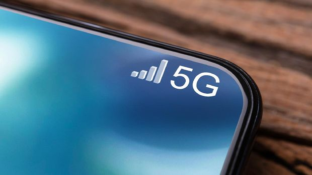 Closeups Photo Of Mobile Phone Connected To 5G Network
