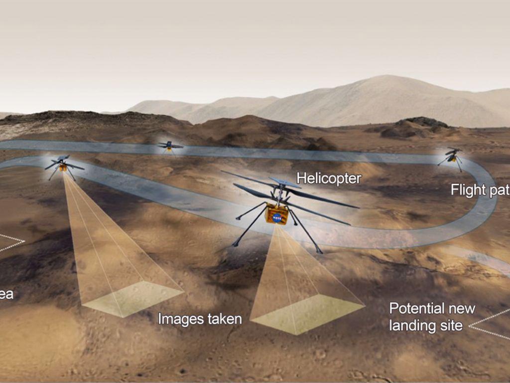 Helikopter Pertama di Mars Mendarat Mulus dan Siap Terbang