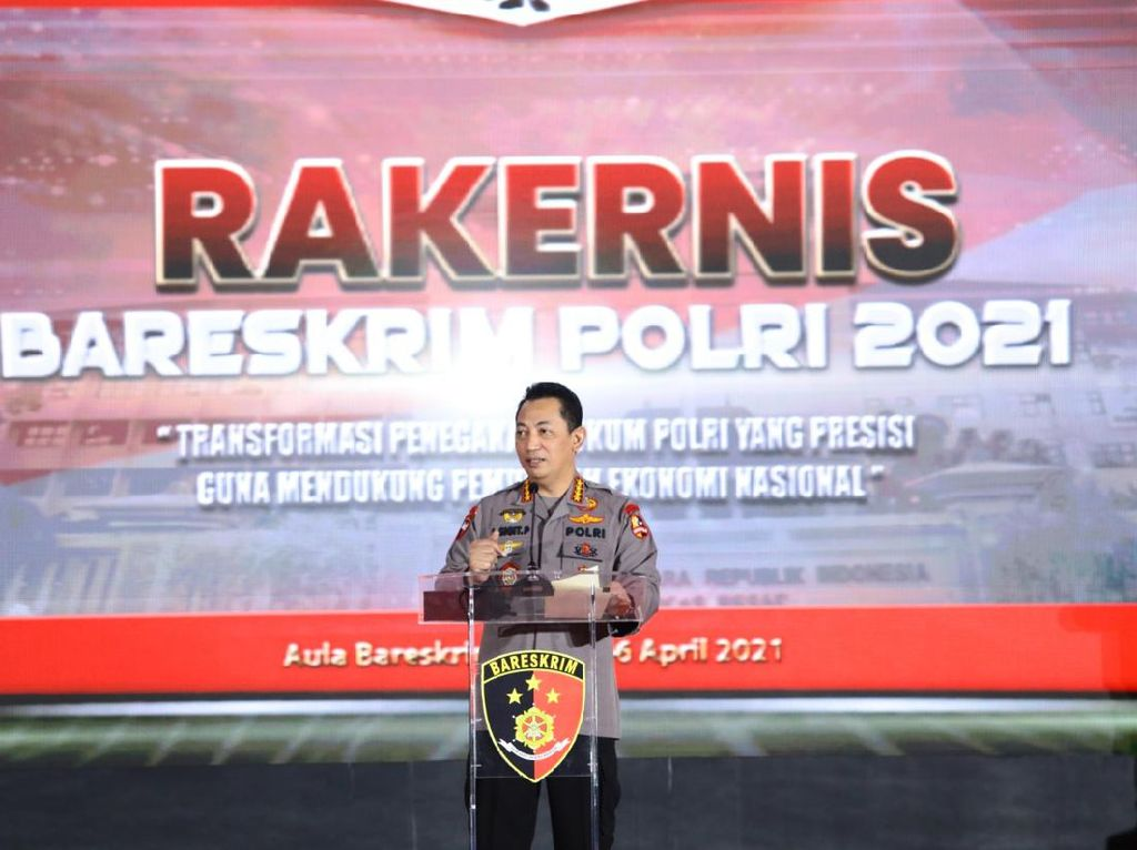 Di Rapat Bareskrim, Kapolri Ingatkan soal Restorative Justice