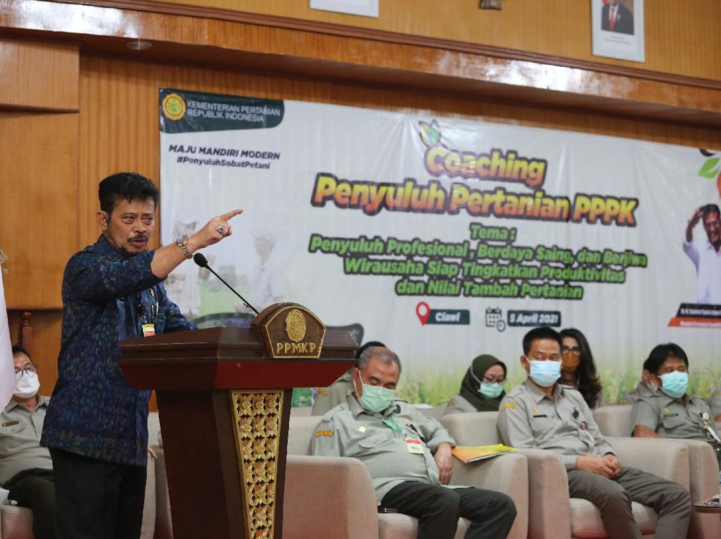Mentan: Kebutuhan Makanan 270 Juta Rakyat Indonesia Wajib Kita Kawal
