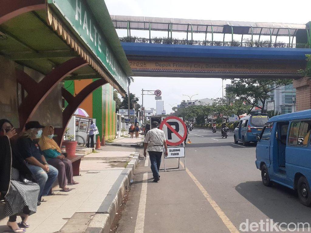 Tak Boleh Parkir Dekat JPO Balai Kota Depok, Ini Tempat yang Tersedia