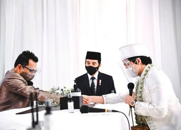 Presiden Joko Widodo sebagai saksi (sumber : instagram.com/attahalilintar)