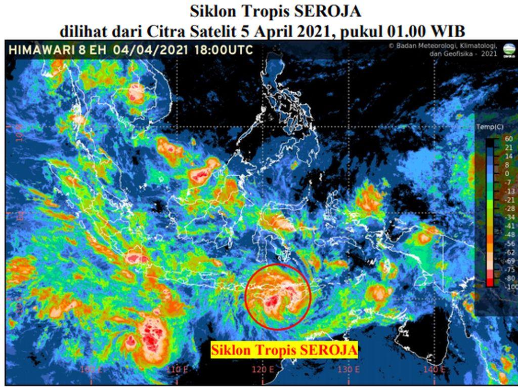 Meski Menjauh, Dampak Siklon Tropis Seroja Masih Terasa 2-3 Hari ke Depan