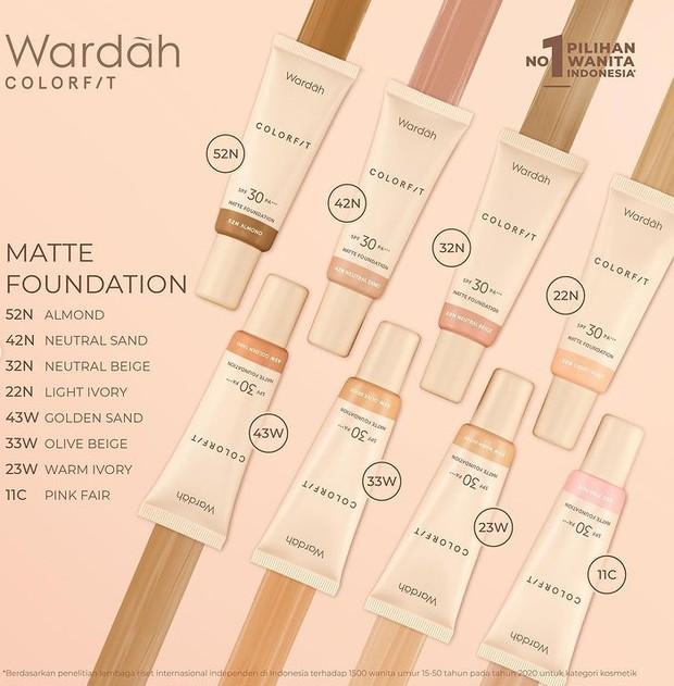 Wardah Colorfit Matte Foundation