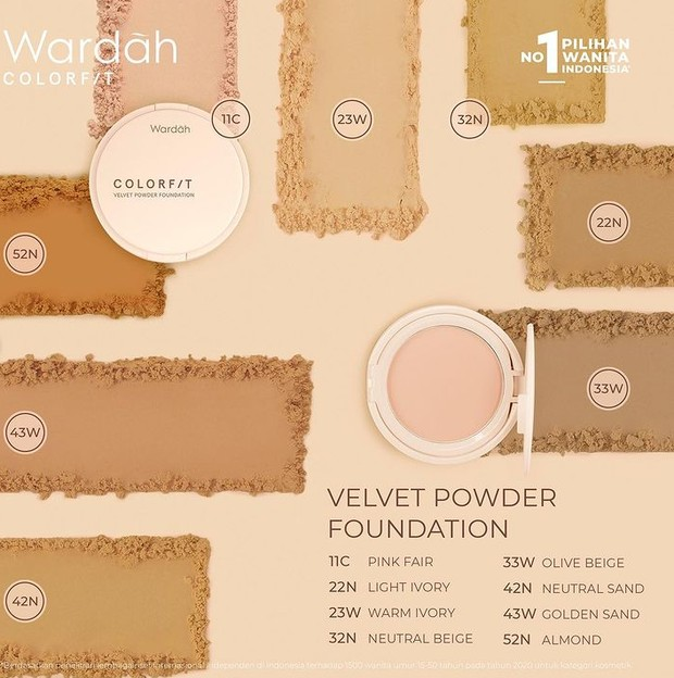 Wardah Colorfit Velvet Powder Foundation