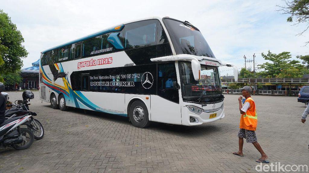 Potret Bus Double Decker Baru Jurusan Jakarta-Blora