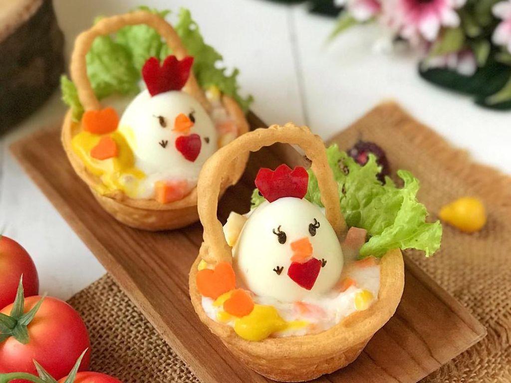 Resep Pembaca : Kue Sus Ayam Mayo yang Gurih Renyah Bentuk Keranjang