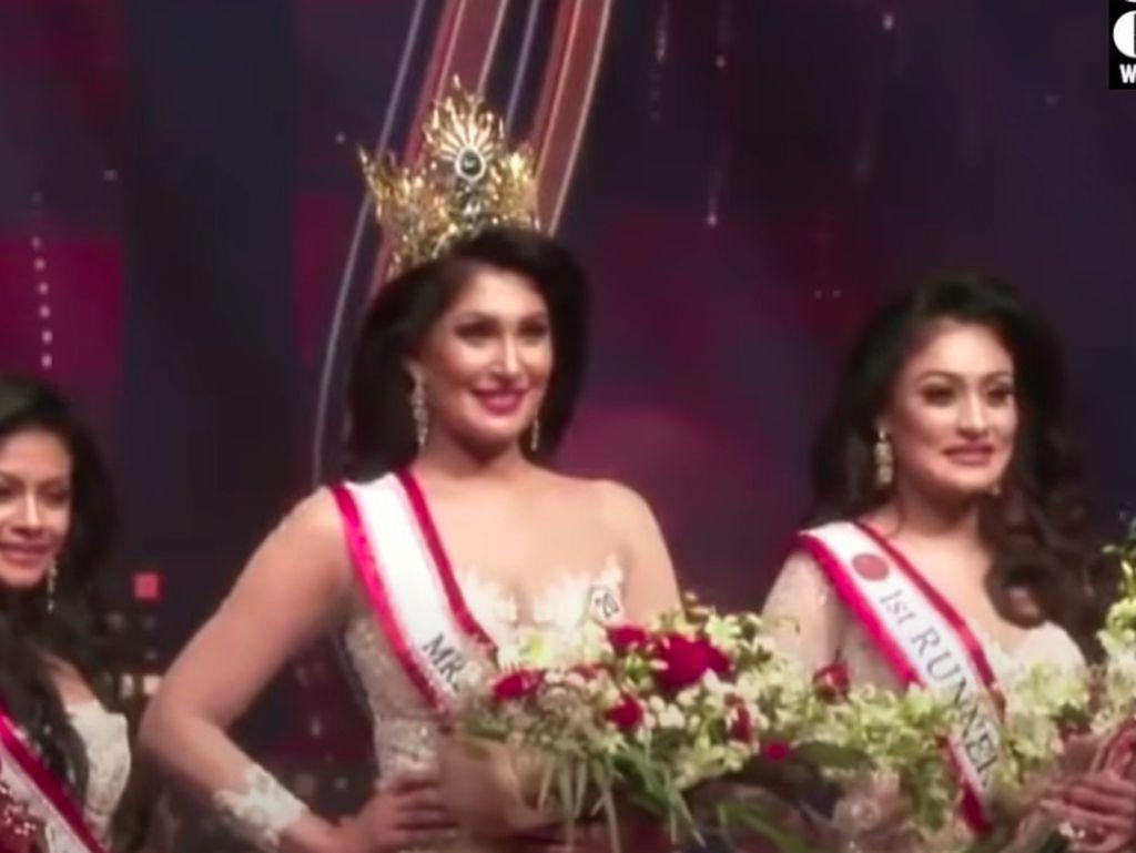 Insiden Mahkota Direbut di Kontes Kecantikan Mrs Sri Lanka