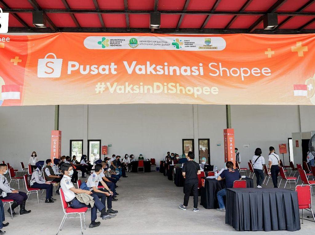 Pulihkan Ekonomi, Shopee Hadirkan Pusat Vaksinasi COVID-19 di Bandung